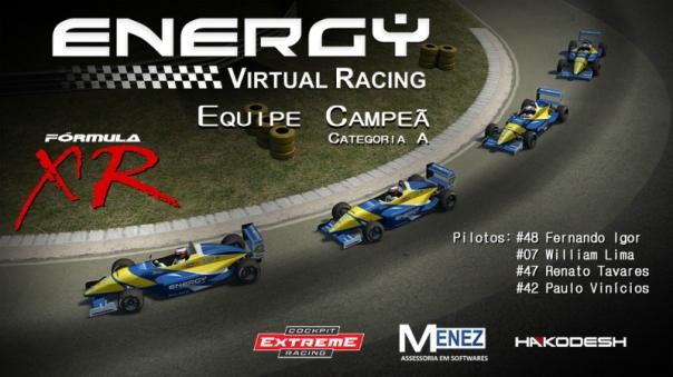 Energy Virtual Racing - Campeã do Formula XR 2014 - H2O Motorsports